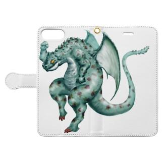 踊る竜 Book-style smartphone case