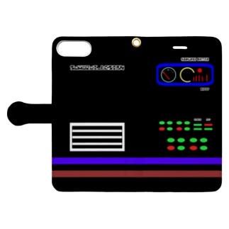 レトロメカ×黒 Book-style smartphone case
