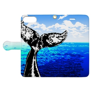 Whale tail (Sea) Book-style smartphone case