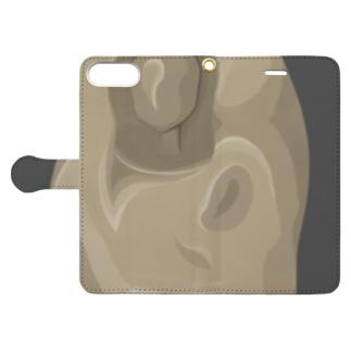 彫刻(偽) version2 Book-style smartphone case