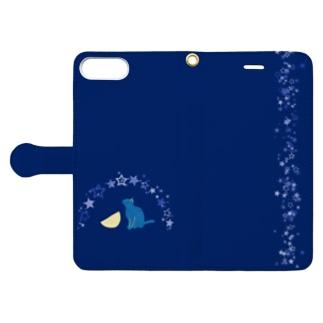 ねこ みえずとも Book-style smartphone case