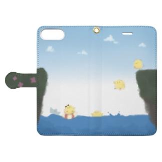 かわいいひよこ Book-style smartphone case