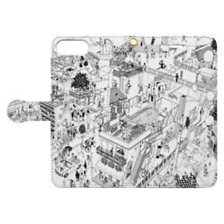 めいタウン Book-style smartphone case