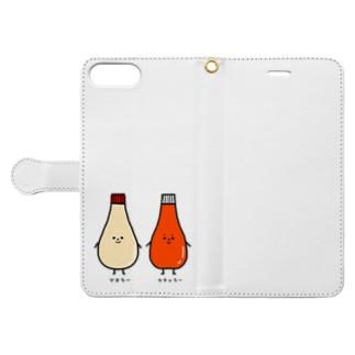 マヨラーさんとケチャラーさん Book-Style Smartphone Case