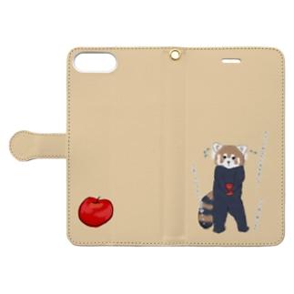 お腹すいてりんごを取ってきたらバレちゃった Book-Style Smartphone Case