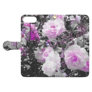 薔薇 Book-style smartphone case