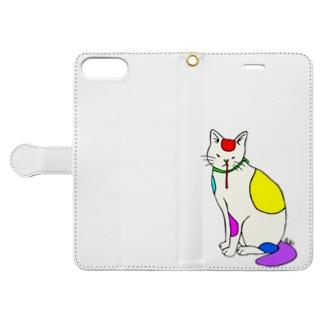 背筋良い猫 Book-Style Smartphone Case