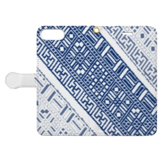 cogin+T No.011 手刺しこぎん刺し Book-Style Smartphone Case
