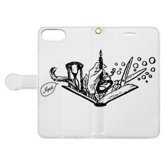 -Noir+Angelique- メモリアルイラスト柄シリーズ Book-style smartphone case