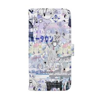 あんしん×リスカちゃん Book-style smartphone case