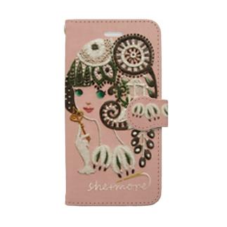 シーモア(she+more)の(iphone) シークレットガーデン Book-style smartphone case