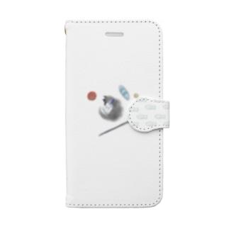 小さな猫と大きな猫 Book-style smartphone case