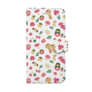 にぎやかおえかき Book style smartphone case