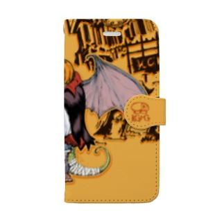 ハロウィン・スーパーモンスター Book-style smartphone case