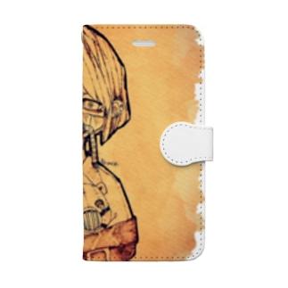 おだまりくん Book-style smartphone case