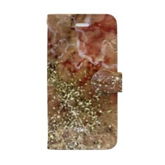 「破壊から生まれるもの」 Marble Book-style smartphone case