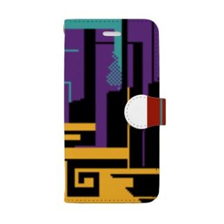 混ざりかけの五色ドット Book-style smartphone case