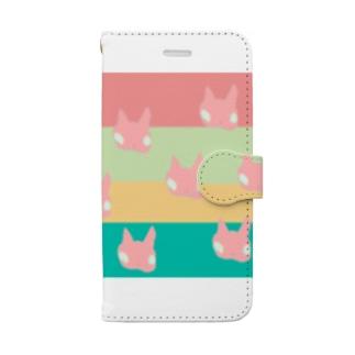 ハッピーにゃんこ Book-style smartphone case