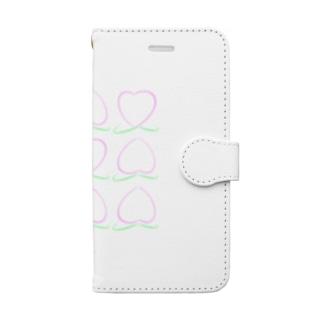 桃ビンゴ Book-style smartphone case