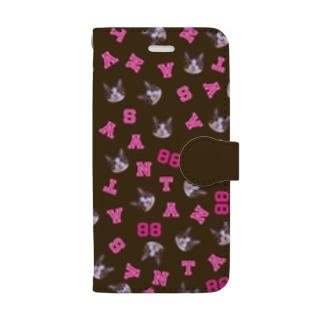 まいにちサン太88ブラウンSE Book-style smartphone case