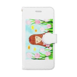 「ピンクダイヤモンドが咲く頃」 Book style smartphone case
