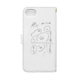 ビターゴマ Book-style smartphone case