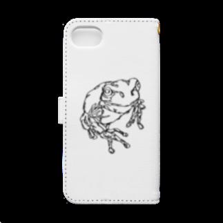 HELLL - ヘル - の左手で描いたカエルB Book-style smartphone caseの裏面