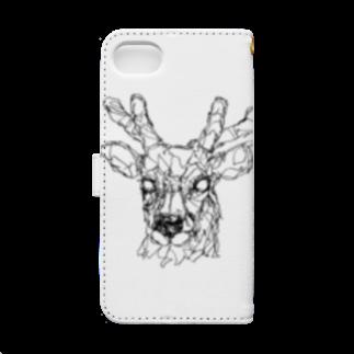 HELLL - ヘル - の左手で描いた鹿 Book-style smartphone caseの裏面