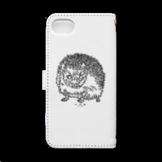 HELLL - ヘル - の左手で描いたハリネズミ Book-style smartphone caseの裏面