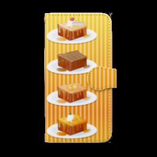 雑貨屋きゅう@suzuri支店の本日のハニートースト 手帳型スマホケース 手帳型スマートフォンケース