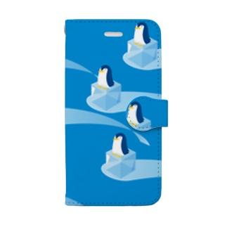 氷とペンギン 手帳型スマホケース 手帳型スマートフォンケース
