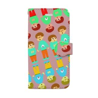 姉妹いっぱい_iPhone7-8用 手帳型スマートフォンケース