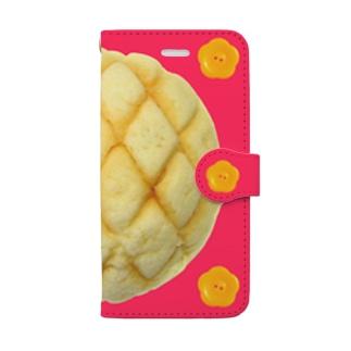 メロンパンと花ボタン iPhone6/6s/7/8用 Book-style smartphone case