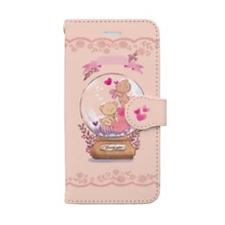 スノードームのくまちゃん Book-style smartphone case