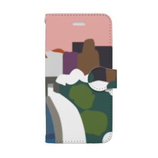 鴨 川 (夕) Book-style smartphone case