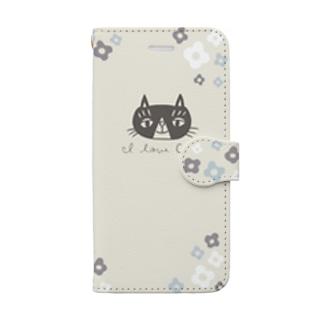 お花とアンセル 手帳型iPhoneケース Book-style smartphone case
