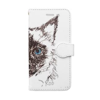シャム猫のお嬢さん Book-style smartphone case
