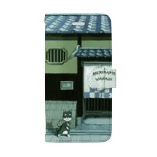 くろしばのマロ スマホケースiPhone8/7 Book-style smartphone case