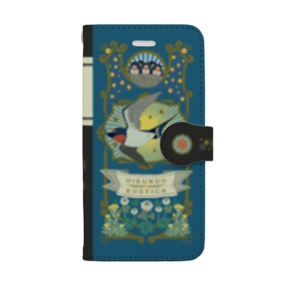 (iPhone-6-6S-7-8)空飛ぶツバメケース Book-style smartphone case