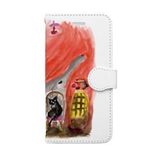 nelcoのピエロ Book-style smartphone case