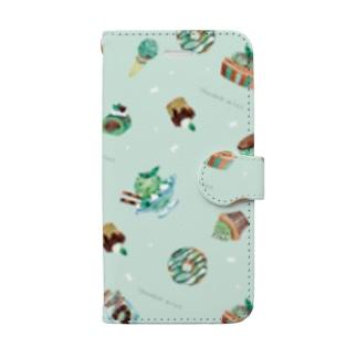 チョコミント Book-style smartphone case