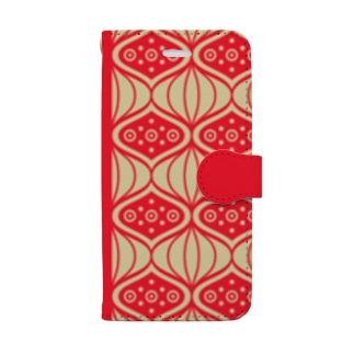 【iPhone 8/7/SE(第2世代)のみ】Chinese Pattern【フリー素材使用】 Book-style smartphone case