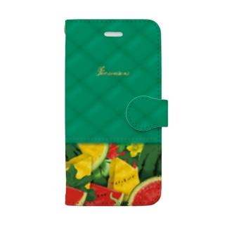 【forseason】ウォーターメロン Book-style smartphone case