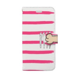 にぼしキャッチ Book-style smartphone case