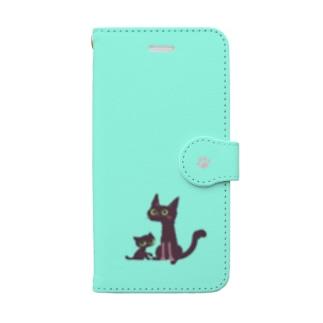 くろねこ ミント Book-style smartphone case