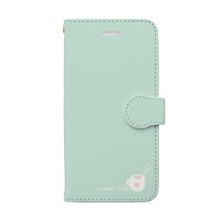 yuki*yutoriのゆとりカフェ*ミント Book-Style Smartphone Case