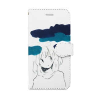 重くのしかかる Book-style smartphone case