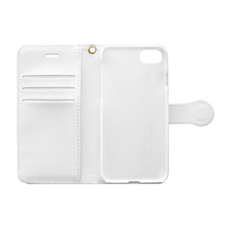 白黒浮かぶペスマス Book-style smartphone case