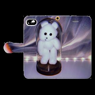 RAITYO TSUMEの熊吉封印 Book-style smartphone caseを開いた場合(外側)