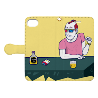 Oedo CollectionのParty People Book-style smartphone caseを開いた場合(外側)